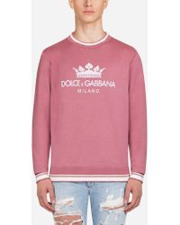 Dolce & Gabbana - Sweatshirt In Printed Cotton - Lyst
