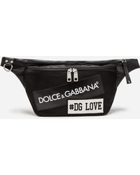 Dolce & Gabbana - Nylon Mediterraneo Fanny Pack With Label Patch - Lyst