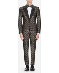 Dolce & Gabbana - Sicilia Tuxedo Suit In Jacquard - Lyst
