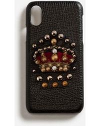 Dolce & Gabbana - Calfskin Iphone X Cover With Crown Patch - Lyst
