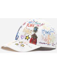 Dolce & Gabbana - Baseball Cap In Printed Stretch Cotton - Lyst