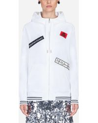 Dolce & Gabbana - Patch-embellished Hoodie - Lyst