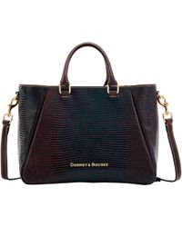 Dooney & Bourke - Embossed Lizard Zip Top Satchel - Lyst