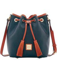 e9cd5443902b Lyst - Dooney   Bourke  serena  Embossed Leather Crossbody Bag in Green
