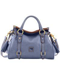 feeb550cc6eb Lyst - Tory Burch Medium Moto Bag Canvas (natural vachetta) Handbags