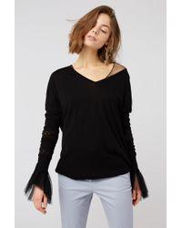 Dorothee Schumacher - Lace Embrace Pullover V-neck 1/1 - Lyst