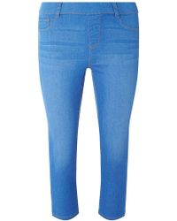 f2cea88d69 Dorothy Perkins Bright Blue  lyla  High Waisted Tube Pants in Blue ...