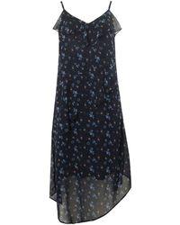 Dorothy Perkins - Navy Ditsy Floral Asymmetric Midi Skater Dress - Lyst