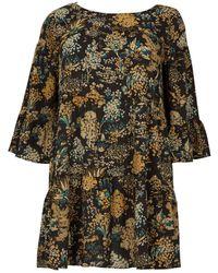 6a48cf9eaf Dorothy Perkins - Blue Vanilla Curve Yellow Floral Skater Dress - Lyst