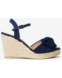 Dorothy Perkins - Navy 'rolo' Bow Wedges - Lyst