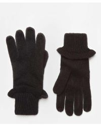 Dorothy Perkins | Black Frill Knitted Gloves | Lyst