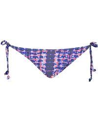 Dorothy Perkins - Dp Beach Purple Tie Dye Bikini Bottoms - Lyst