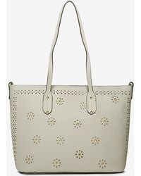 Dorothy Perkins - Grey Laser Cut Detail Shopper Bag - Lyst
