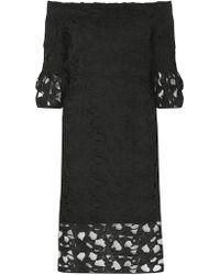 Dorothy Perkins - Black Lace Bardot Shift Dress - Lyst