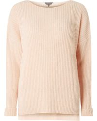 Dorothy Perkins - Tall Nude Boxy Fit Ribbed Jumper - Lyst