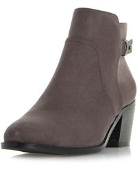 Dorothy Perkins - Head Over Heels By Dune Grey 'pascalle' Ankle Boots - Lyst