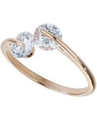 Dorothy Perkins - Double Stone Ring - Lyst