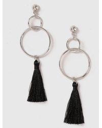 Dorothy Perkins - Hoop And Tassel Earrings - Lyst