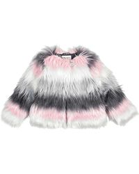 Dorothy Perkins - Girls Grey Faux Fur Coat (5 - 12 Years) - Lyst