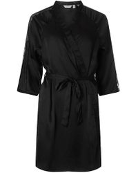 Dorothy Perkins - Black Spotted Mesh Kimono Style Dressing Gown - Lyst