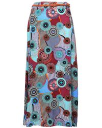 Dorothy Perkins - Izabel London Curve Multi Coloured Maxi Skirt - Lyst