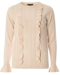 Dorothy Perkins - Blush Ruffle Cable Jumper - Lyst