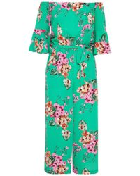 Dorothy Perkins - Quiz Green And Pink Frill Jumpsuit - Lyst