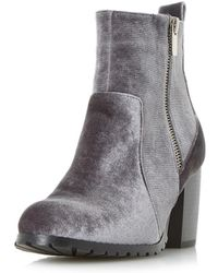 Dorothy Perkins - Head Over Heels By Dune Grey 'pippaa' Ankle Boots - Lyst