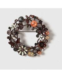 Dorothy Perkins - Pretty Floral Wreath Brooch - Lyst