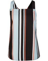 Dorothy Perkins Blue Stripe Printed Top