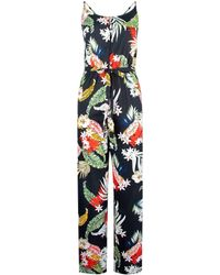 Dorothy Perkins Black Floral Print Strappy Jumpsuit