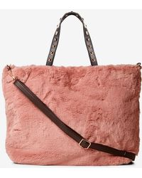 Dorothy Perkins - Rose Faux Fur Shopper Bag - Lyst