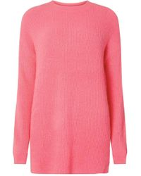 Dorothy Perkins - Tall Pink Oversized Jumper - Lyst