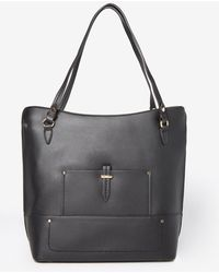Dorothy Perkins - Black Hardware Detail Shopper Bag - Lyst