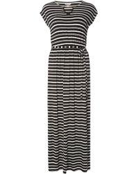 Black monochrome floral maxi dress
