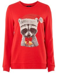 Dorothy Perkins - Vero Moda Red Christmas Knitted Jumper - Lyst