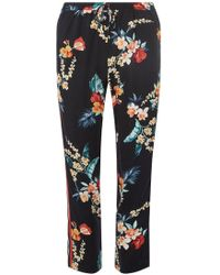 Dorothy Perkins - Tropical-print Side Striped Jogger Pants - Lyst