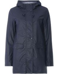 Dorothy Perkins - Navy Stripe Lined Raincoat - Lyst