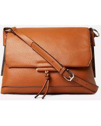 Lyst - Dorothy Perkins Tan Flap Cross Body Bag in Brown 2462bd666d6cf