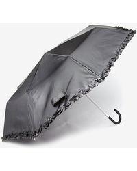 Dorothy Perkins - Black Frill Umbrella - Lyst