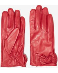 Dorothy Perkins - Red Leather Knot Gloves - Lyst