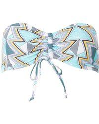 Dorothy Perkins - Noisy May Blue Aztec Print Bikini Top - Lyst
