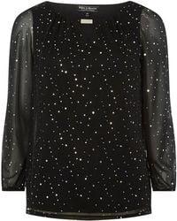 Dorothy Perkins - Billie & Blossom Black Kimono Sleeve Blouse - Lyst