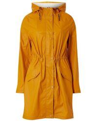 Dorothy Perkins - Vero Moda Mustard Lined Coat - Lyst