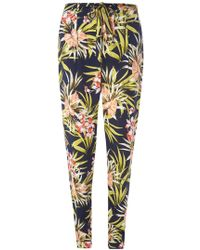Dorothy Perkins - Tall Tropical Print Tie Trousers - Lyst