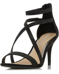Dorothy Perkins - Head Over Heels By Dune Miley Black Heeled Sandal - Lyst