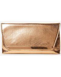 Dorothy Perkins - Rose Gold Metal Bar Clutch Bag - Lyst