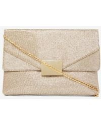 0bdb2e13dd Dorothy Perkins Quiz Gold Shimmer Clutch Bag in Metallic - Lyst