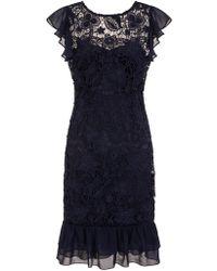 Dorothy Perkins - Paper Dolls Navy Chiffon Lace Dress - Lyst