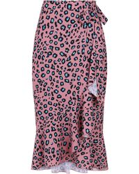 374d2a15a Girls On Film - Multi Color Leopard Print Wrap Skirt - Lyst